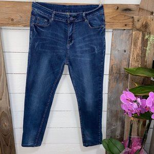 A Womens Skinny Jeans Distressed